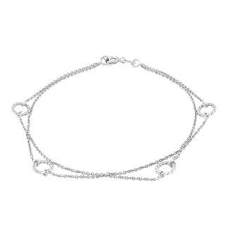 La Preciosa Sterling Silver Double Strand Circle Bracelet