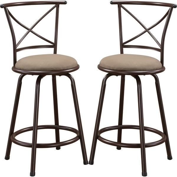 Shop Martin Metal Counter Height Stool With Upholstered