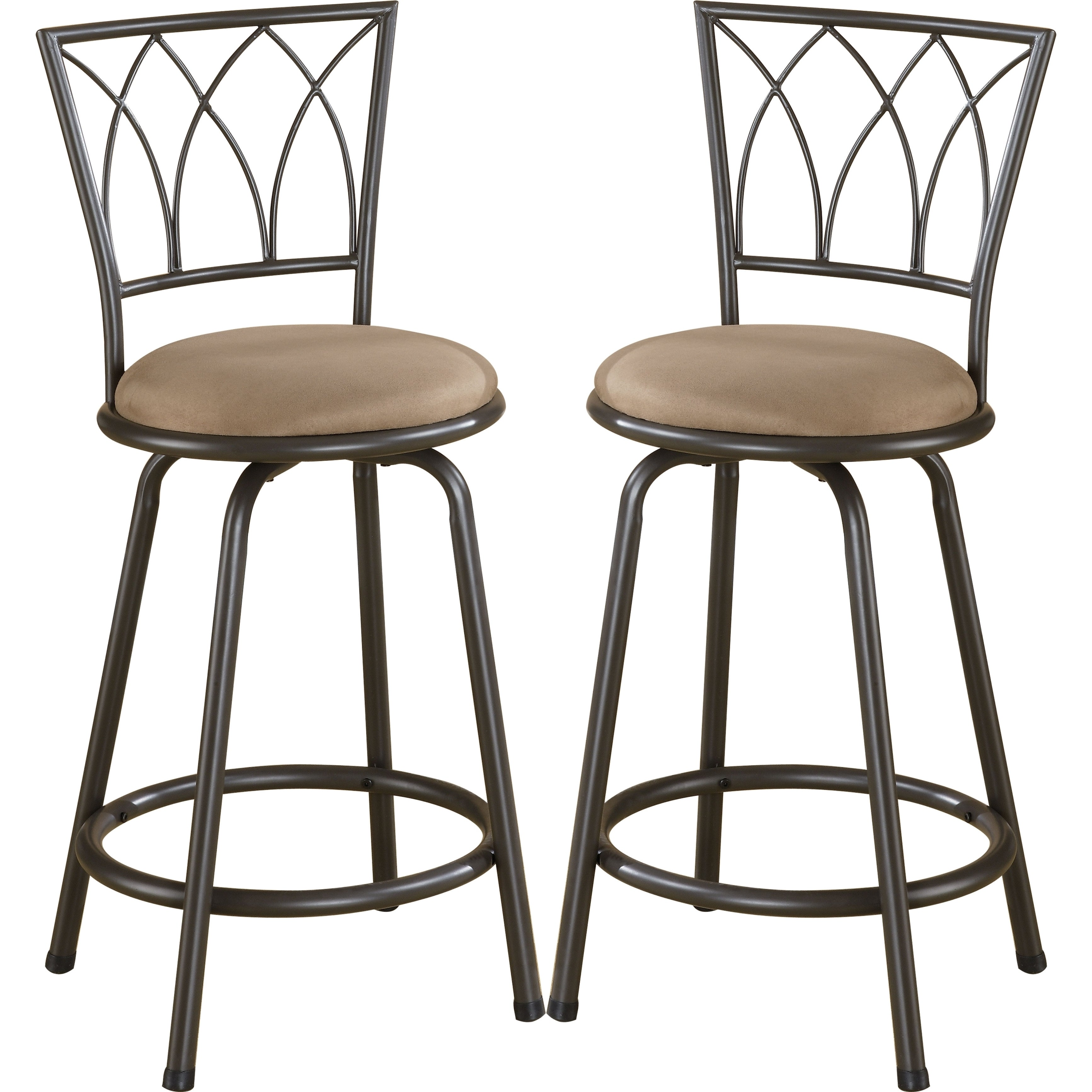 Wondrous Austin Metal Counter Height Stool With Upholstered Seat Set Of 2 Gmtry Best Dining Table And Chair Ideas Images Gmtryco