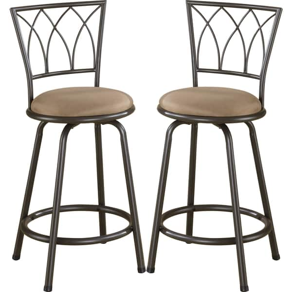 Strange Austin Metal Counter Height Stool With Upholstered Seat Set Of 2 Alphanode Cool Chair Designs And Ideas Alphanodeonline