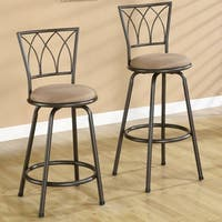Austin Metal Bar Stool with Upholstered Seat (Set of 2)