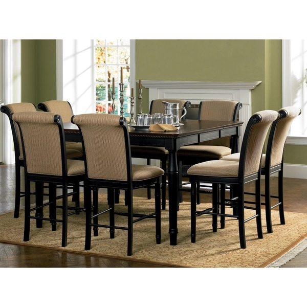 Shop Riverdale Upholstered Distressed Black/ Amaretto Wood