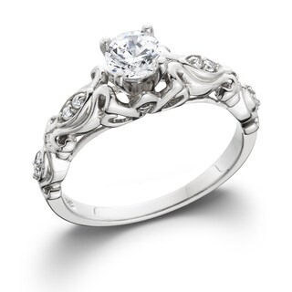 14k White Gold 1/2 ct TDW Vintage Diamond Engagement Ring (More options available)