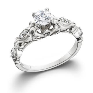 14k White Gold 1/2 ct TDW Vintage Diamond Engagement Ring|https://ak1.ostkcdn.com/images/products/10040099/P17184874.jpg?impolicy=medium