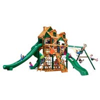 Gorilla Playsets Great Skye II Cedar Swing Set with Malibu Wood Roof and Timber Shield Posts