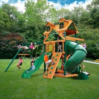 Gorilla Playsets Malibu Extreme Cedar Swing Set with Timber Shield Posts