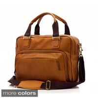 Muiska Paris Single Compartment Handmade Vaquetta Leather Briefcase