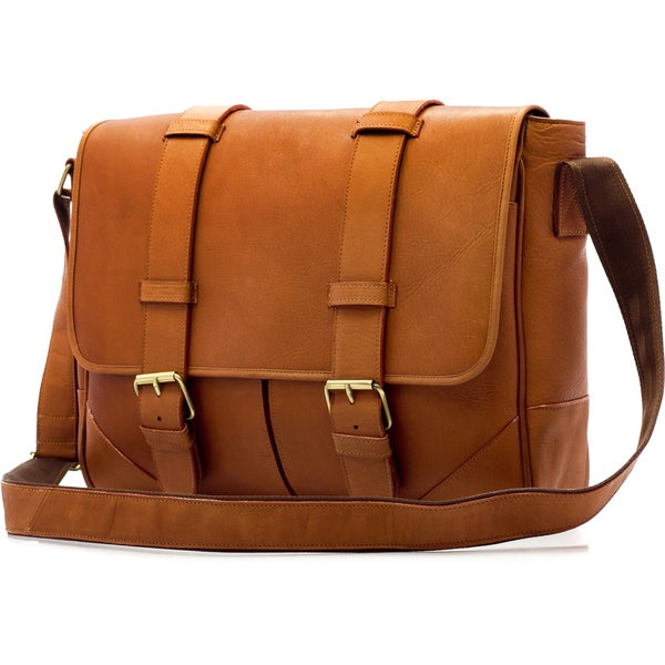 Muiska Dublin Handmade Vaquetta Leather 15-inch Laptop Messenger Bag