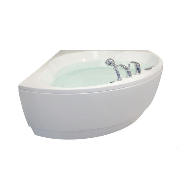 Aquatica Cleopatra-Wht Corner Acrylic Bathtub. Opens flyout.