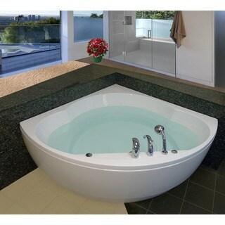 Aquatica Cleopatra-Wht Corner Acrylic Bathtub