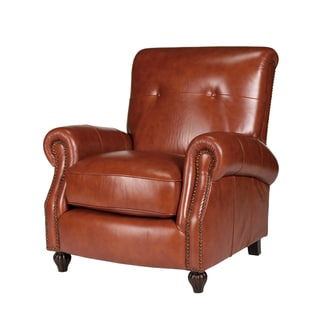 Benjamin Barstow Cognac Leather Press Back Chair