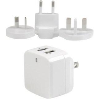 StarTech.com White Dual Port USB Wall Charger - High Power (17 Watt /
