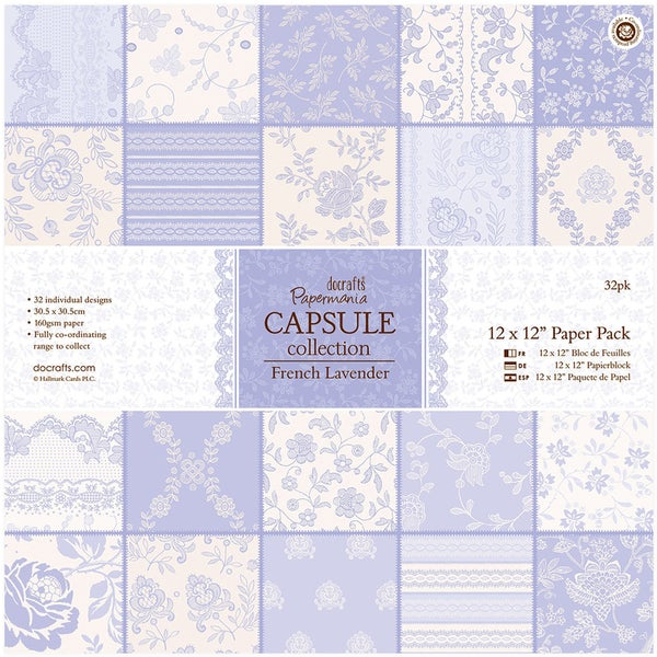 "Papermania Paper Pack 12""X12"" 32/Pkg-French Lavender"