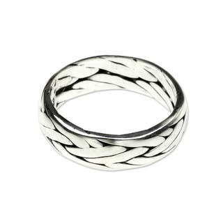 Singaraja Weave Handmade Classic Vintage Style Men's Clothing Accessory Accent Braided Sterling Silv|https://ak1.ostkcdn.com/images/products/10041172/P17185813.jpg?impolicy=medium