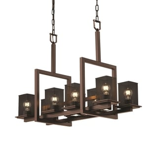 Justice Design Group Montana 8-up and 3-downlight Chandelier, Bronze
