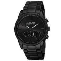 August Steiner Men's Quartz Chronograph Stainless Steel Black Bracelet Watch