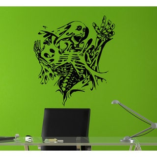 Skeleton Ripping out the metal Sticker Vinyl Wall Art