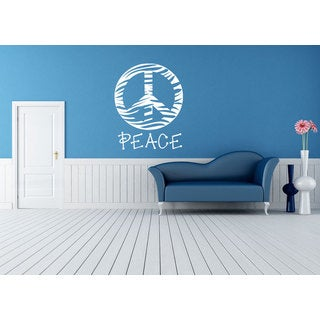 Zebra Peace Sign Sticker Vinyl Wall Art