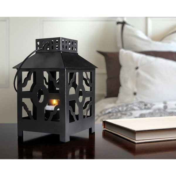 Order Home Collection Lantern Tealight - Quatrefoil
