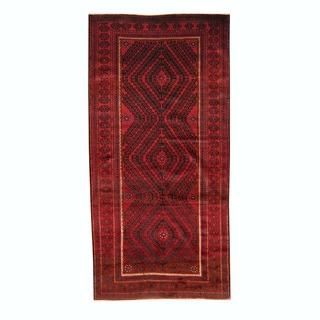 Handmade One-of-a-Kind Balouchi Wool Rug (Afghanistan) - 4'7 x 9'5