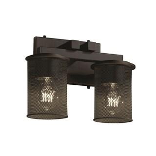 Justice Design Group Dakota 2-light Bath Bar, Dark Bronze
