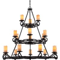 Quoizel Armelle 18-light Imperial Bronze Three Tier Chandelier