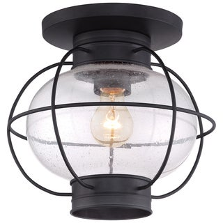 Cooper Mystic Black Outdoor Flush Mount