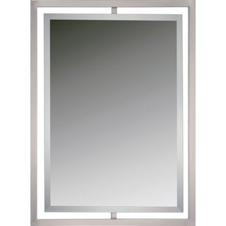 Quoizel Reflections Marcos Brushed Nickel Small Mirror