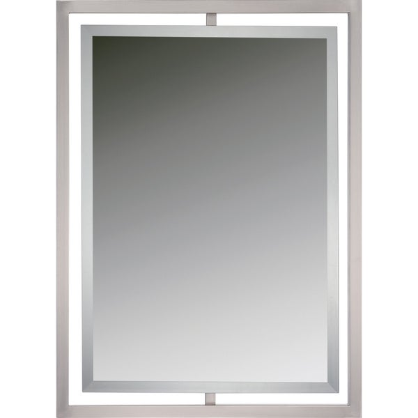 Quoize Reflections Marcos Brushed Nickel Small Mirror
