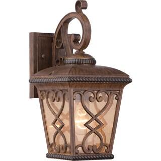 Fort Quinn Antique Brown Small Wall Lantern
