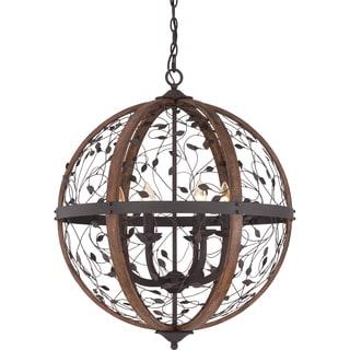 Chamber 6-light Darkest Bronze Cage Chandelier