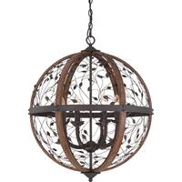 Quoizel Chamber 6-light Darkest Bronze Cage Chandelier