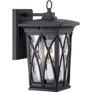 Grover Mystic Black Small Wall Lantern