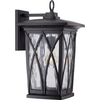 Quoizel Grover 1-light Mystic Black Large Wall Lantern