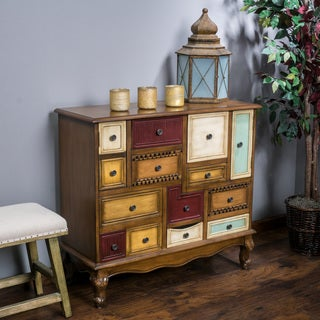 Everest Multi-Color Wood Cabinet by Christopher Knight Home