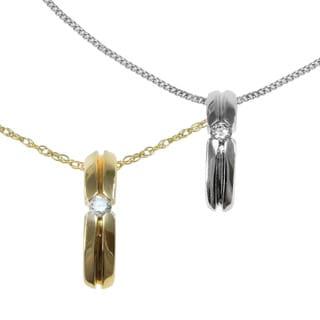Michael Valitutti 14K White and Yellow Gold Diamond Pendant