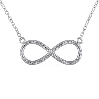 Miadora Sterling Silver Diamond Accent Infinity Necklace