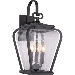 Quoizel Province Mystic Black 3-light Large Wall Lantern