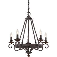 Quoizel Noble Rustic Black 5-light Chandelier