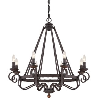 Noble Rustic Black 8-light Chandelier