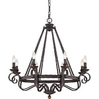 Quoizel Noble Rustic Black 8-light Chandelier