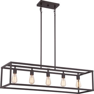 New Harbor Western Bronze Island 5-light Chandelier