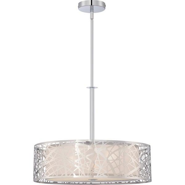 Quoizel Platinum Collection Abode Polished Chrome 3-light Pendant