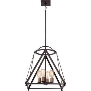 Quoizel Fixture - Knotting Western Bronze Cage Chandelier 4-light