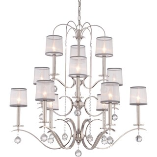 Quoizel Whitney Imperial Silver Three Tier 12-light Chandelier