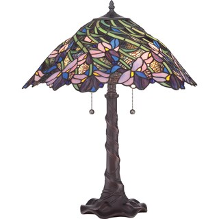 Tiffany-style Queens Meadow Table Lamp