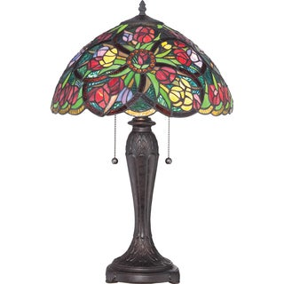 Quoizel Tiffany-style Lucia Imperial Bronze 2-light Table Lamp