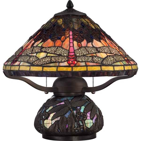 Shop Quoizel Tiffany Style Copperfly Imperial Bronze Finish 2 Light