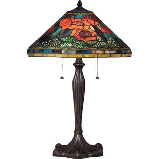 Tiffany-style Berkshire Imperial Bronze Finish 2-light Table Lamp