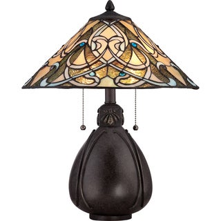 Tiffany India Imperial Bronze Finish 2-light Table Lamp